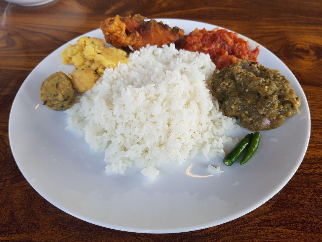 the lunch especially for first day of new year Bengali